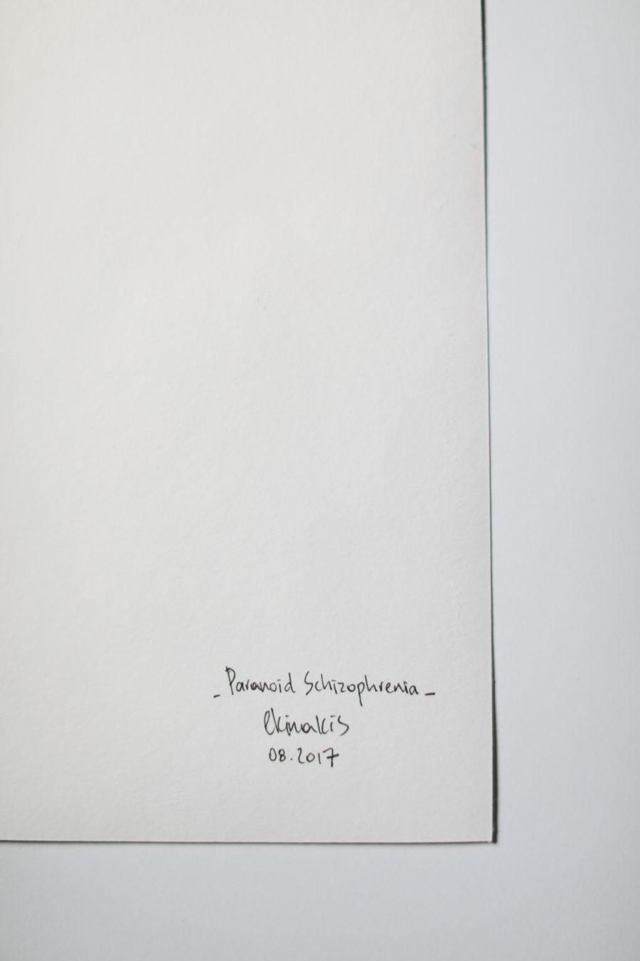 paranoid schizophrenia signature
